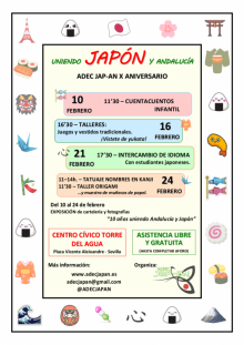 Cartel ADEC JAP-AN -  X Aniversario