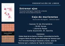 """Cartel presentación de libros de haiku - """"Estrenar ojos"""" y """"Caja de marionetas"""""""