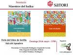 Feria del libro 2017 - Presentación de dos volúmenes de haiku de la Editorial Satori