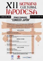 Seminario Conocer Japón en Coria - Cartel y programa